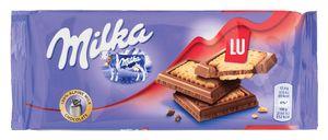 Čokolada mlečna Milka, s keksi Lu, 87g