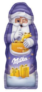 Božiček iz mlečne čokolade Milka, hrustljavi, 45g