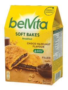 Piškoti Belvita soft, čokolada, lešnik, 250g