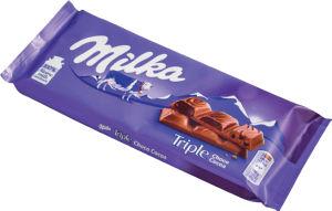 Čokolada mlečna Milka, triple čoko, 90 g