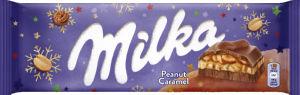 Čokolada mlečna Milka, arašidi, karamela, 276g