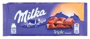 Čokolada mlečna Milka, triple caramel, 90g