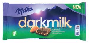 Čokolada Milka mlečna dark, mandelj, 85 g