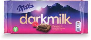 Čokolada mlečna Milka dark, raspberry, 85g