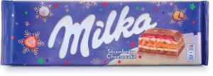 Čokolada mlečna Milka strawberry cheescake, 300g