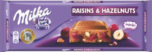 Čokolada mlečna Milka Raisin&Nuts, 270g