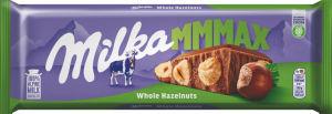 Čokolada mlečna Milka, s celimi lešniki, 270 g