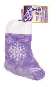 Čokolada mlečna Milka, božični mix v nogavički, 196g