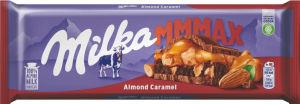 Čokolada mlečna Milka mandlji in karamela, 300g