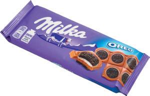 Čokolada mlečna Milka Oreo, 92g