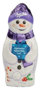 Čokolada mlečna Milka snežak, 50g