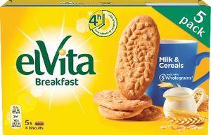 Piškoti Elvita Milk&Cereals, 225g