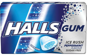 Žvečilni gumi Halls Peppermint, 18g