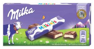 Čokolada mlečna Milka, Milkinis, 87,5 g