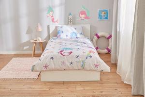 Posteljnina Sea World, otroška, roza, 140×200+50×70