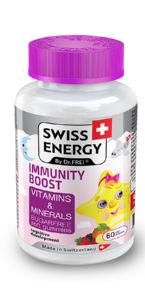 Bonboni Swiss energy bones&teeht vitamini in minerali, 162g