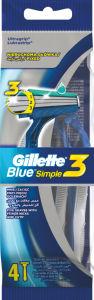 Brivni za enkr.uporabo Gillette, Blue3, 4/1