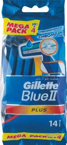 Brivnik Gillete Blue II plus za enkratno uporabo, 10+4/1