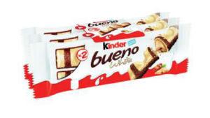 Desert Kinder Bueno, bel, 3pack, 117g