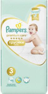 Pampers Premium hlačne plenice, S3, 6-11kg, 48/1