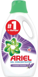 Pralni prašek Ariel Lavender, tek., 40pranj, 2,2l
