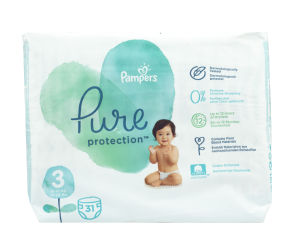 Pampers Pure plenice, S3 VP, 6-10kg, 31/1