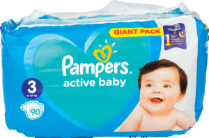 Plenice Pampers, Giant, midi S3, 6-10kg, 90/1