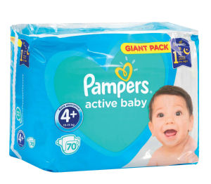 Plenice Pampers, Giant, maxi+, S4+, 10-15kg, 70/1