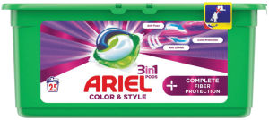 Pralni prašek Ariel, kapsule, Plus fiber protection, 25/1