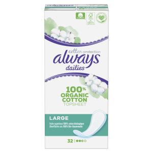 Ščitniki Always, dnevni, Large cotton protection, 38/1