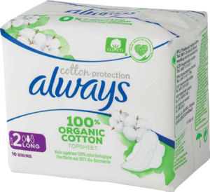 Always vložki, Long cotton protection, 10/1