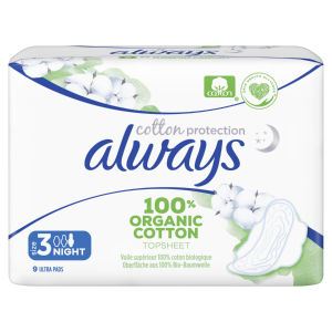 Always vložki, nočni, cotton protection, 9/1