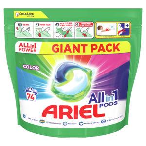 Pralni prašek Ariel kapsule Color, 74 pranj