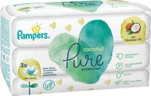 Robčki Pampers, Pure kokos, 3×42/1