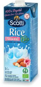Napitek Bio rižev, z mandlji, 1l