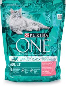 Briketi za mačke One, adult, losos, riž, 800g