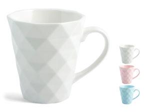 Lonček Mug, bone china, sort. barve, 260 cl