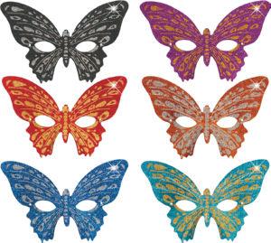 Maska metulj, z bčeščicami