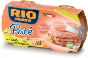 Namaz Rio mare Pate soft, z ingverjem, 2x84g