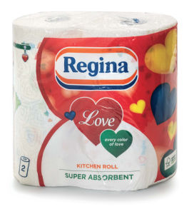 Papirnate brisače Regina love, 2/1, 2slojne