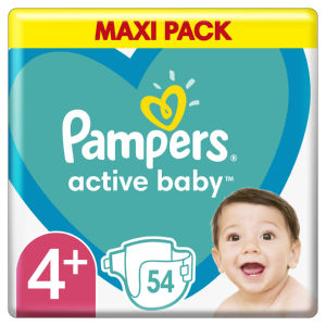 Pampers Maxi pack, plenice, S4+, 10 – 15 kg, 54/1