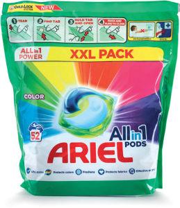 Pralni prašek Ariel kapsule Color, 52 pranj