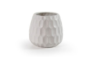 Vaza Cre, keramična, bela, 11 cm