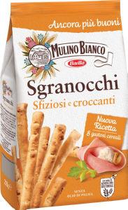 Grisini Mulino Bianco, s hrustljavimi žitaricami in sezamom, 210 g