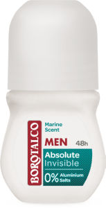 Dezodorant Borotalco roll-on man, absolute ivisible, 50 ml