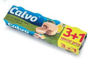 Tunina Calvo, v olivnem olju, 4 x 80 g