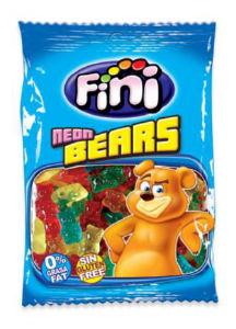Bonboni Fini, kisli neonski medvedki, 100g