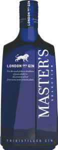 Gin London, dry, Master's, alk.37,5 vol%,0,7l