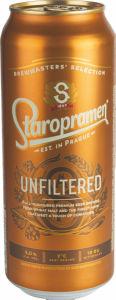 Pivo Staropramen nefiltrirano, pl., alk,5 vol%, 0,5l
