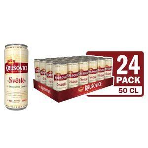 Pivo Krušovice svetlo, alk.4,2 vol%, 0,5l